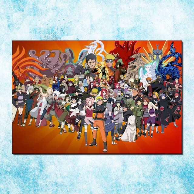 Naruto Shippuden Hot Anime Game Poster Art Silk Canvas Print 13x20 20x30 inch Wall Picture for Home Decor (more)-13