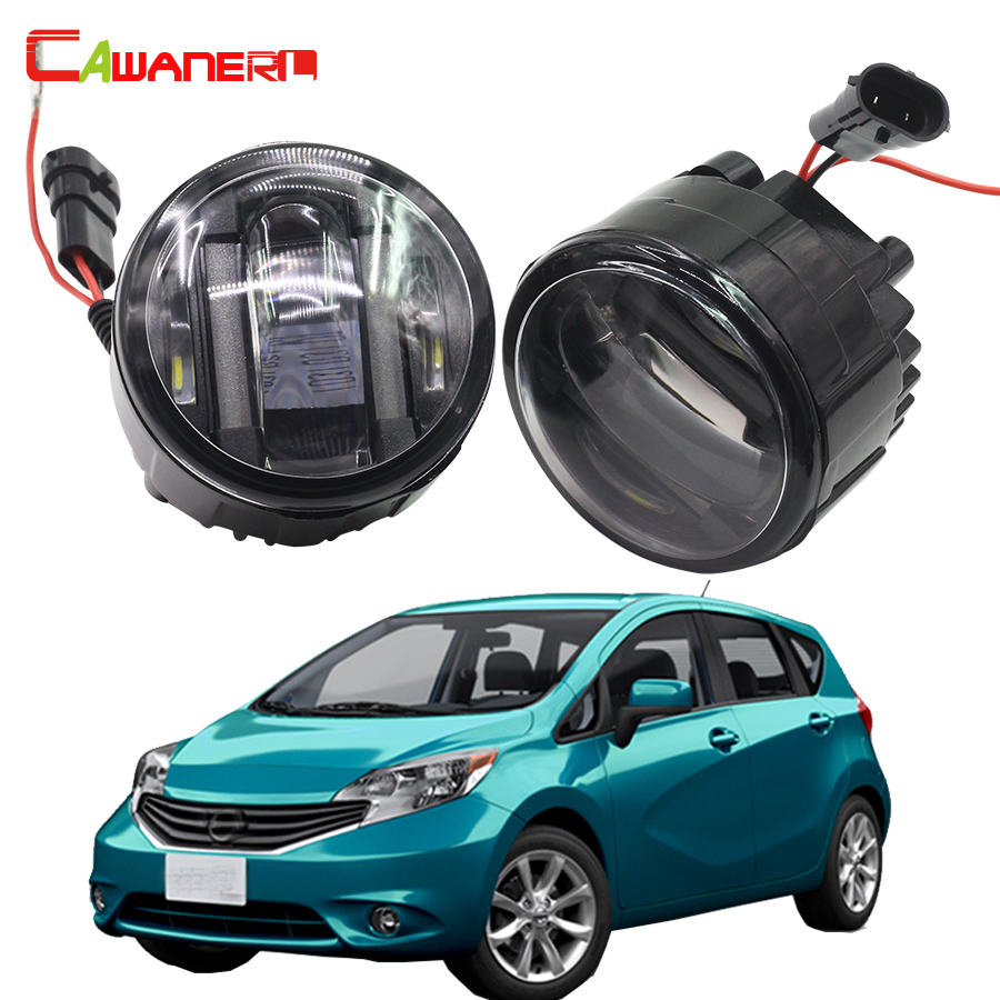 Cawanerl For Nissan Note E11 MPV 2006 Onwards Car LED Fog Light DRL Daytime Running Lamp 2 Pieces cawanerl 2 x led fog light drl daytime running lamp car styling for nissan tiida hatchback saloon 2007 onwards