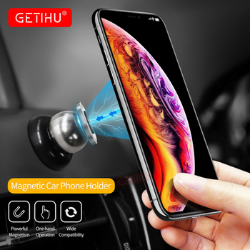 GETIHU 360 Car Magnetic Phone Holder For Phone in Car Mount Magnet Universial Mobile Phone Smartphone Stand Support For iPhone