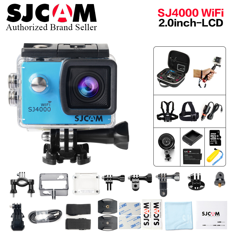 Original SJCAM SJ4000 Wifi 2.0 mini Action Cam Waterproof helmet cam 1080P Full HD mini Camcorder sports DV car DVR deportiva yobangsecurity home wifi wireless gsm security alarm system outdoor solar pir motion sensor wireless siren smoke detector