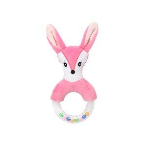 Image 3 - Nette Baby Rassel Spielzeug Kaninchen Plüsch Baby Cartoon Bett Spielzeug baby 0 12 monate Bildungs baby rassel Kaninchen Hand glocken погремушки