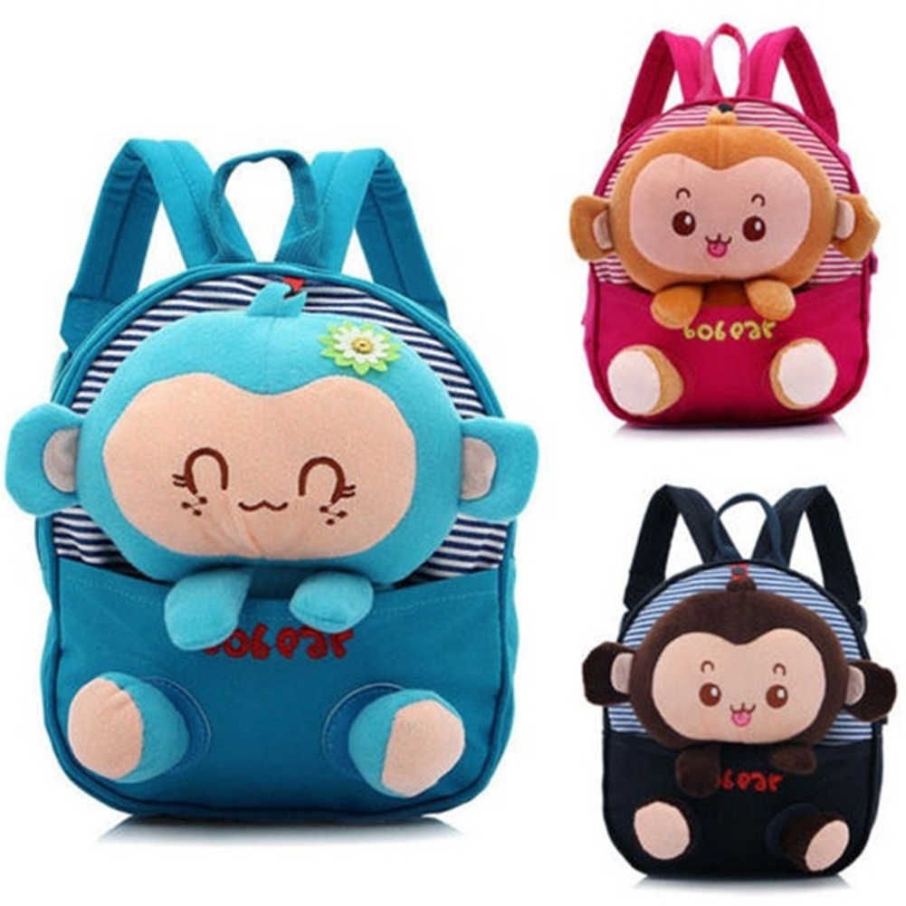 061a8ca474 Hot Selling Cute 3D Cartoon Plush Toys Monkey Backpack Children School Bags  Backpack Kindergarten Girls Boys