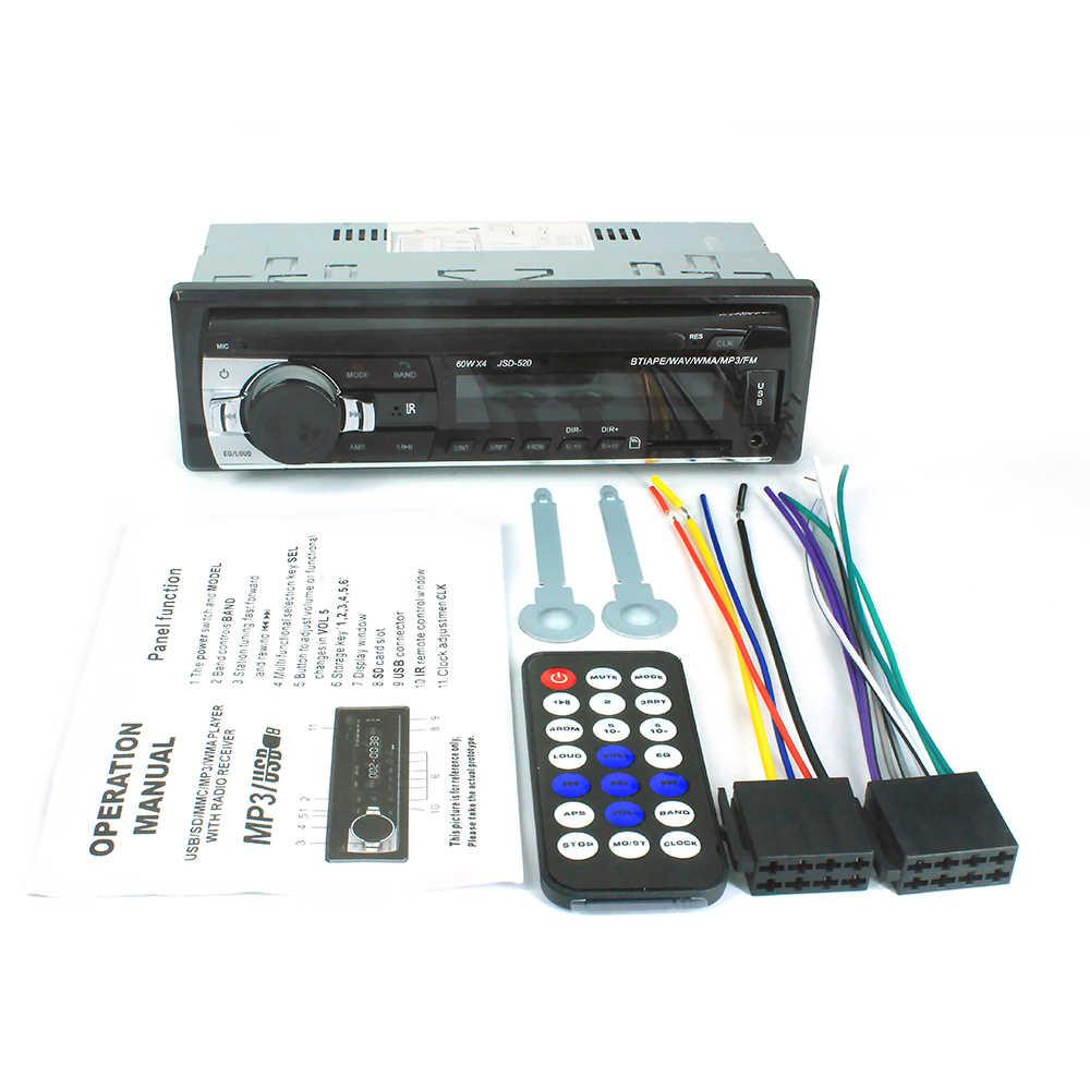 1DIN In - Dash วิทยุสเตอริโอรีโมทคอนโทรลดิจิตอลบลูทูธสเตอริโอ 12 V รถวิทยุ Mp3 ผู้เล่น USB/SD/AUX-IN