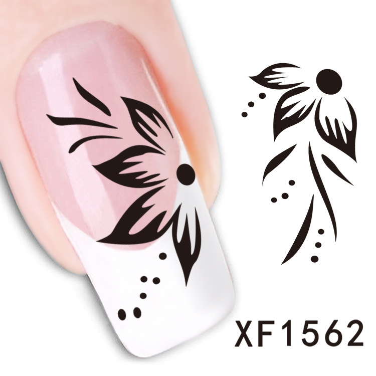 2 Sheet watermark nail stickers nail stickers butterfly flower XF1562