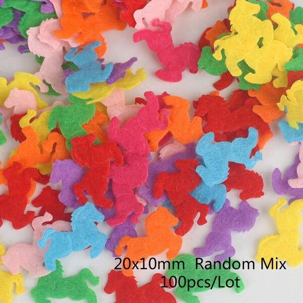 100 шт цветок/Сердце/Бабочка Нетканая фетровая ткань Войлок DIY Набор для шитья кукол скрапбук DIY ремесленные принадлежности - Цвет: Type 3
