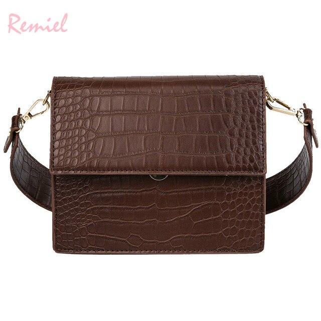 Women's Designer Luxury Handbag 2020 Fashion New High quality PU Leather Women Handbags Crocodile pattern Shoulder Messenger Bag 1