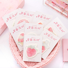 Get more info on the 8pcs Strawberry party sticky note Pink fruit cake juice memo pad deco Planner Diary sticker Stationery School supplies A6493