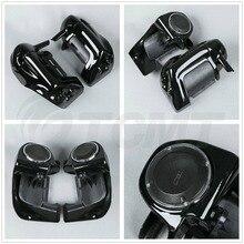 Lower Vented Leg Fairing + 6.5'' Speakers w/ Grills For Harley Touring Electra Road Glide FLHT FLHTCU 1983-2013 цены