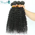 Deep Wave 3B 3C Kinky Curly Virgin Hair 4 Bundles/Lot Filipino Hair Weave Bundles Human Hair Extensions Rosa Hair Products