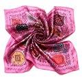 [LESIDA] 2016 Мода Стиль Женщины Розовый Атласная ободки Шарф Женщин Способа Реальная 100% Шелковый шарф, Равнине Платки дамы Шарфы 1006