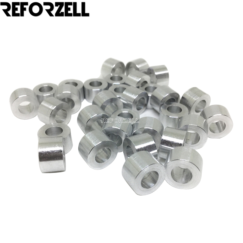 100pcs/Lot M5 Aluminum Spacer 3mm/1/8''mm/6mm/1/4''mm/9mm High Precision Round Aluminum Spacer For Openbuilds