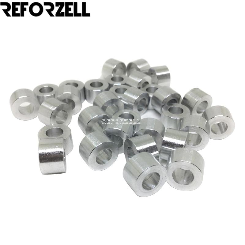 100pcs/Lot M5 Aluminum Spacer 3mm/1/8''mm/6mm/1/4''mm/9mm High Precision Round Aluminum Spacer For Openbuilds