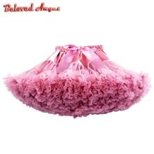 Новинка года; детская юбка-пачка для маленьких девочек детская юбка-американка для танцев вечерние Пышные Многослойные Юбки принцессы для дня рождения детское бальное платье