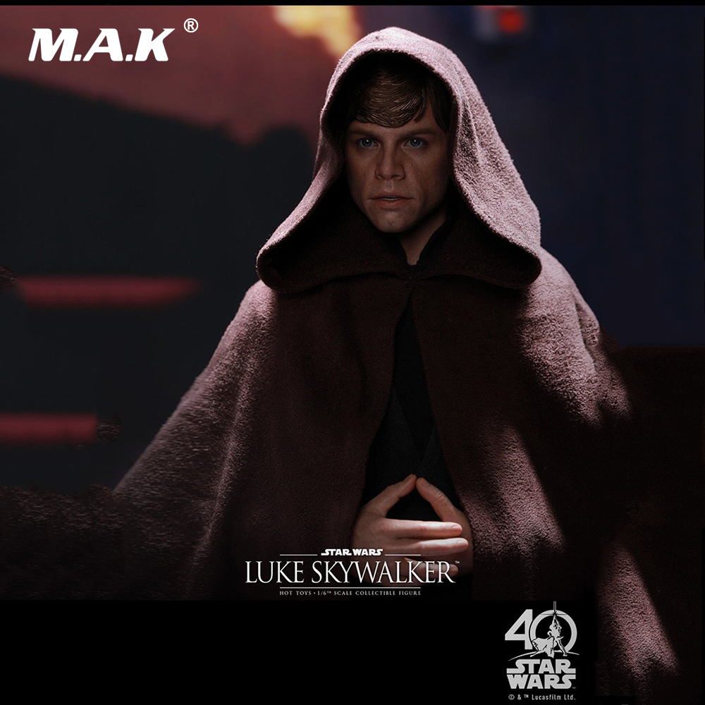 купить 1/6 Scale Full Set Action Figure Luke Skywalker Star Wars: Return of the Jedi Black Ver. Figure Toy for Collection Gift онлайн