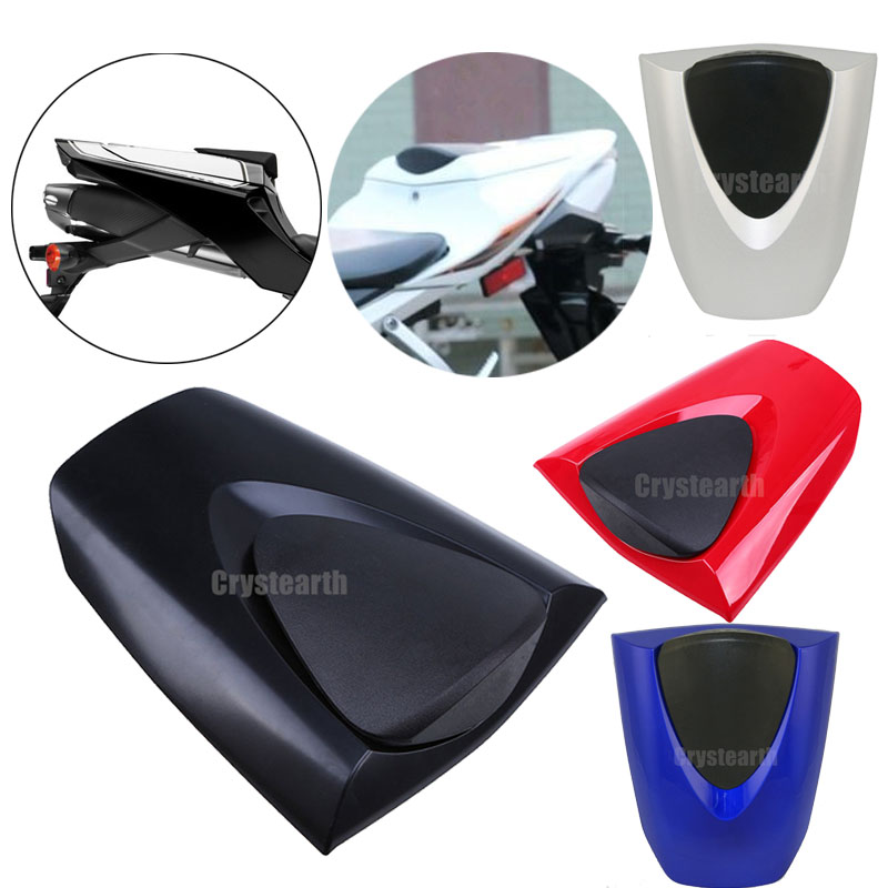 Black Blue White Red Silver Motorcycle Rear Seat Cover Solo Seat Fairing Cowl For Honda CBR600RR CBR 600RR 600 RR 2007-2012 motorcycle rear seat cover tail section fairing cowl for 2007 2012 honda cbr600rr 2008 2009 2010 2011 cbr 600rr 600 rr 07 08 09