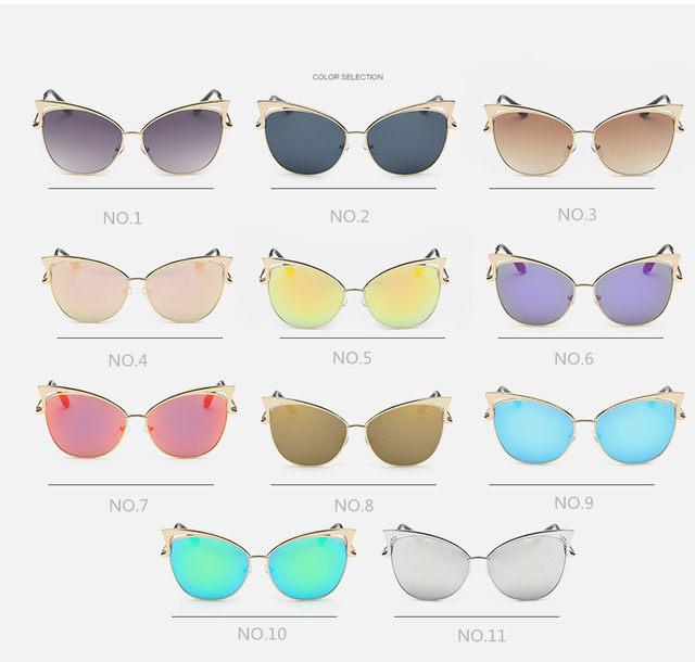 Luxury Cat Eye Sunglasses Women Brand Designer Retro Vintage Sun Glasses For Women Female Ladies Sunglass Mirror Lunettes Oculos (8)