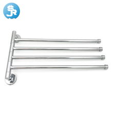 new excellent quality 360 degree rotation towel bar chrome plated  bathroom rack Stainless Steel free shipping