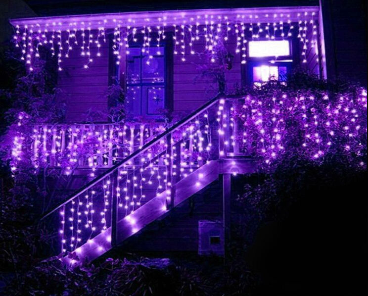 led string curtain light 3*1m 150 led waterfall light christmas decoration  dripping icicle lights cortina de led wedding X100PCS-in LED String from  Lights ... - Led String Curtain Light 3*1m 150 Led Waterfall Light Christmas