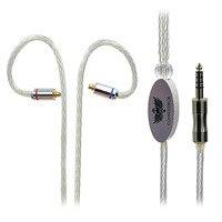 Новое поступление 1.2 м монокристаллическая медь покрытая серебром 4.4 мужчины к MMCX разъем 16 ядер Посеребренная кабель для Sony nw wm1z