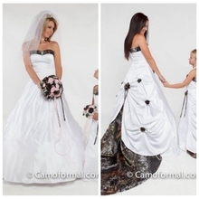 2019 Sweetheart Camo Wedding Dress Draped Back Hand Made Flowers Adorned Bridal  Gowns Custom Plus Size 379b414f0d9d