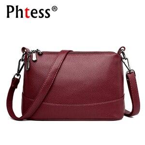 Image 1 - 2020 Women Messenger Bags Small Crossbody Bags For Women Leather Shoulder Bag Female Handbags High Quality Vintage Shell Bag New