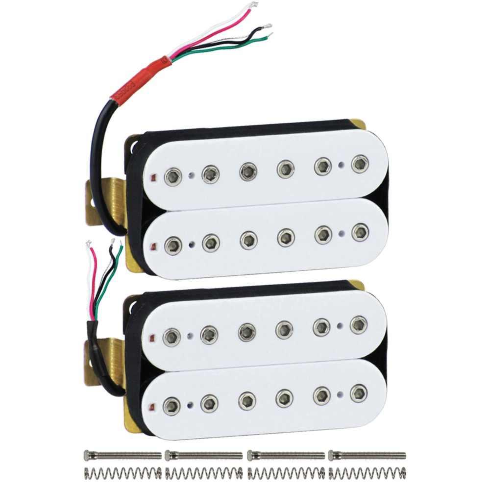FLEOR Set von Humbucker Pickup Elektrische Gitarre Pickup Neck Brücke Set Keramik Magnet Gitarre Teile, Schwarz/Weiß Wählen