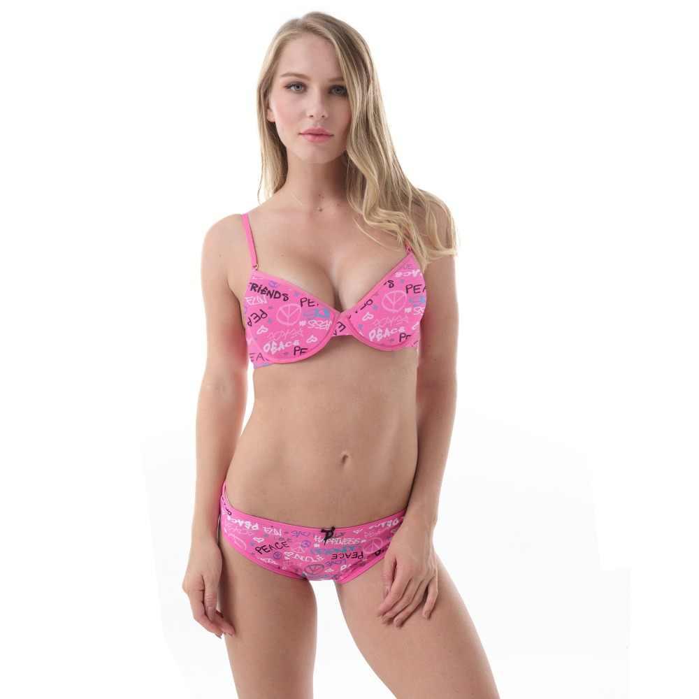a04f557ed4 MiaoErSiDai Women Sexy Lingerie Set Girl s 3 4 Cup Push Up Women Underwear  Set Adjustable