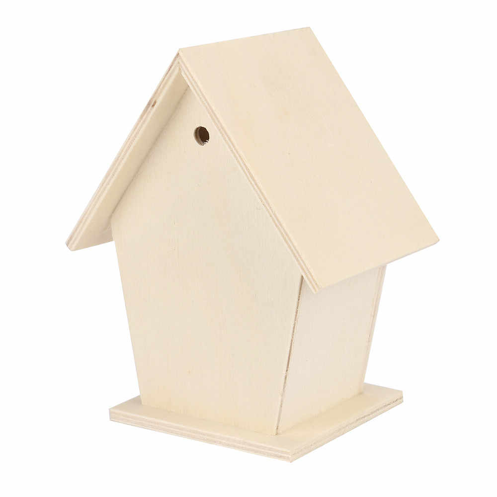 Деревянный птичий Домик гнездо креативный настенный деревянный открытый птичий домик деревянный ящик/45