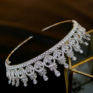 Image 5 - ASNORA ใหม่ Crown Headwear กับ Zincon แฟชั่น Vintage เครื่องประดับทรงผมเจ้าสาว Party Crown