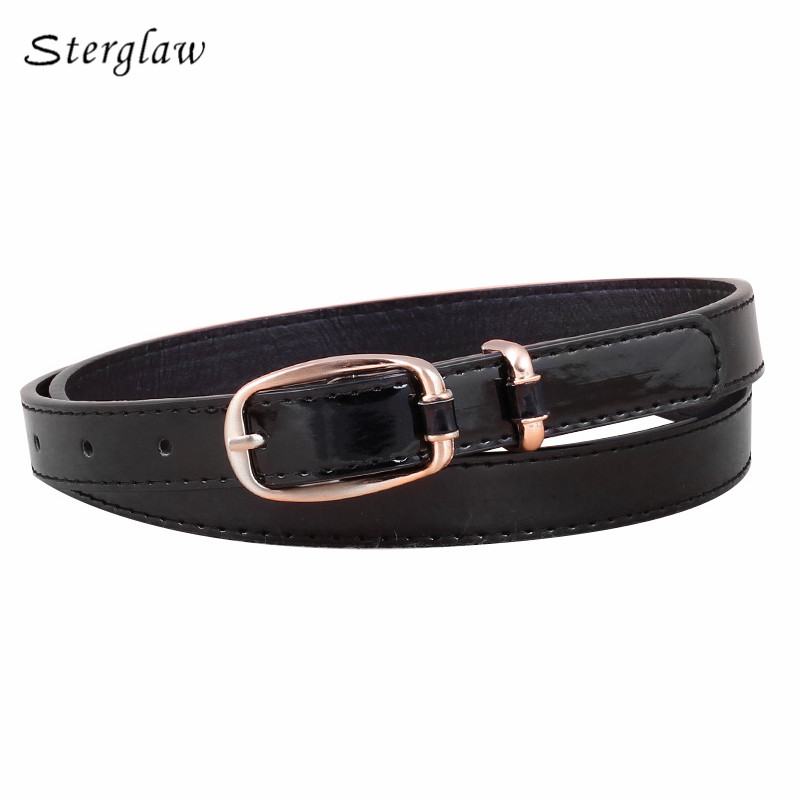 High Real Quality Classic Word Buckle Womens Belts And Straps 2018 New Summer Thin Belt Female Lacquer With Waist Jeans N059