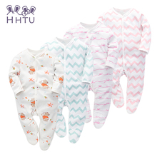 HHTU baby cotton bag foot piece of clothing to open long sleeved piece of clothing to climb out of the spring and Autumn