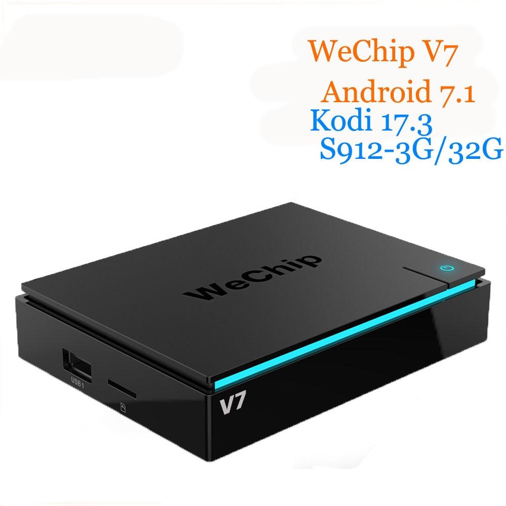 WeChip V7 android tv box 7.1 OS S912 Octa-core 3G+32G 2.4G+5GWifi+BT kodi 17.3 1000LAN HD Media Player PK h96pro+ 4K tv box