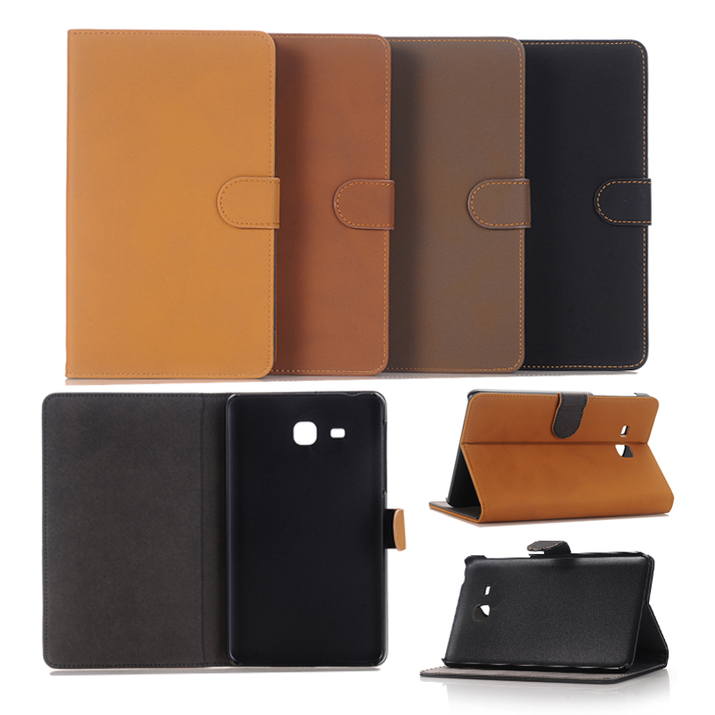 Antique PU Leather Flip Cover For Samsung Galaxy Tab A 7.0 2016 T280 T285 with Stand Holder For Samsung Galaxy Tab A 7.0 inch
