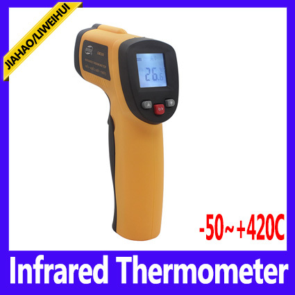 Free shipping Infrared Thermometer GM300 Digital Non-Contact Infrared IR Thermometer With Laser Point Gun -32~350 degrees ,MOQ=1