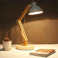 Loft Nordic Simple Creative Personality Reading Table Lamp Log Bedroom Livingroom Bedside Office Study Lamp Free Shipping