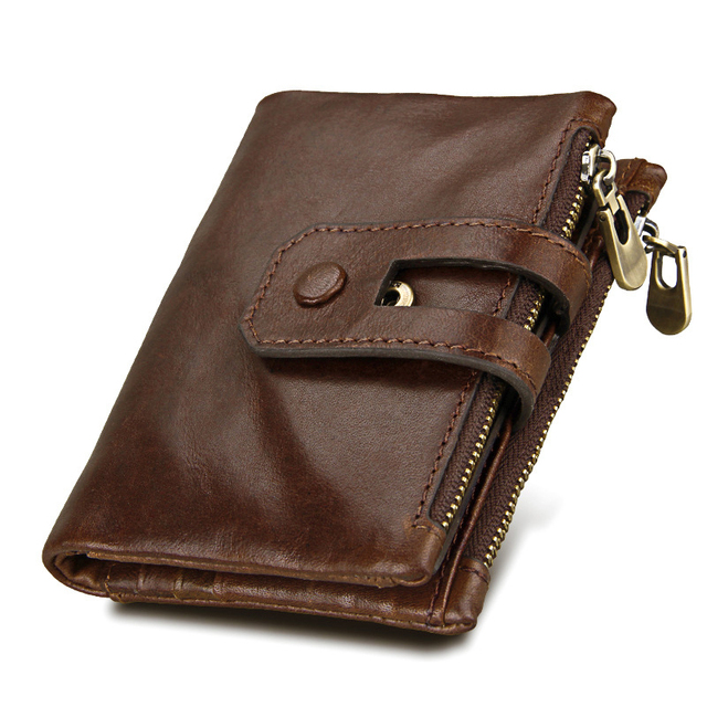 a92c9a5bcfb2 Casual Men s Leather Short Wallet Key Holders Business Clutch Purse With Zipper  Pouch Wallet Gift For Men Credit Card Holder