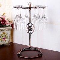 Wedding Decoration Wrought Iron Wine Rack Hanging Wine Glass Holder Vinho Bottle Shelf Rejilla Para Copas