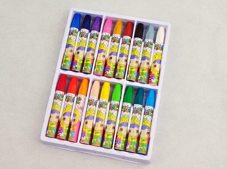 18 цветов масляная пастель Детский рисунок мелки студент искусство канцелярские Детские граффити ручка