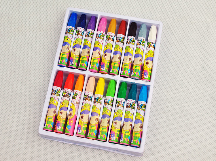 18 color oil pastels childrens drawing crayons student art stationery nursery baby graff ...