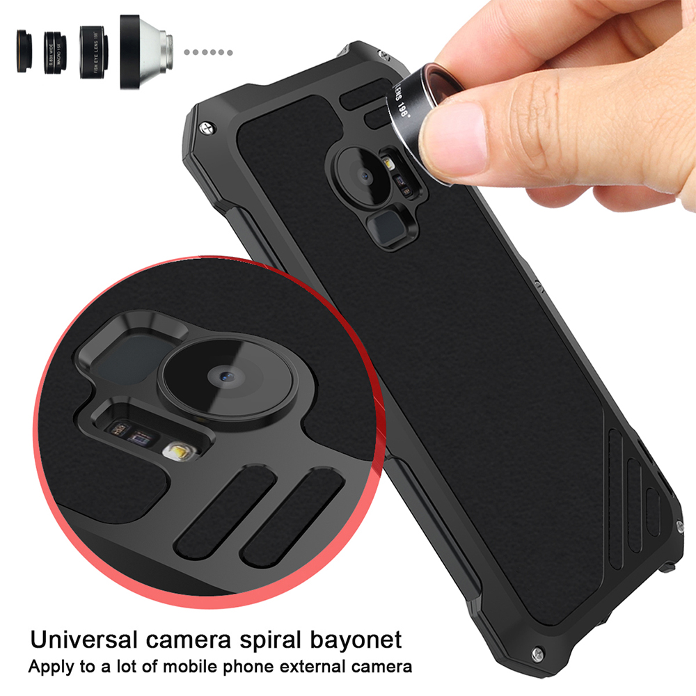 Ascromy For Galaxy S9 Lens Kit Case Fisheye Macro Wide Angle Shockproof Aluminum Cover For Samsung S8 Plus S7 edge Accessories (7)