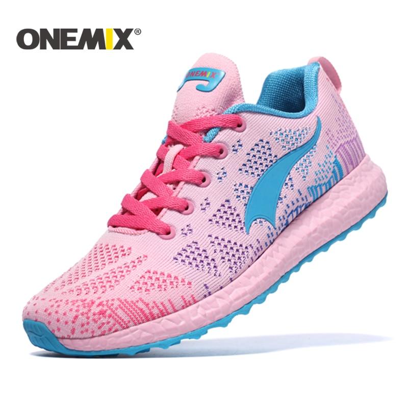 ONEMIX kvinners løpesko Kvinners sportsko Profesjonelle med pute Kvinner Sportsko Trenere Outdoor Girl Sneakers