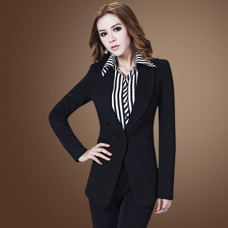 Picture As Blazer D'affaires Uniforme Définit Femmes Formelle Ol Travail Bureau Du Noir Porter Costumes as Pantsuits Picture Élégant Style waq8qZFpnS