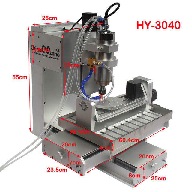 US $2910 29 29% OFF|CNC 3040 5 axis router 2 2KW Milling machine 3d stl  model relief for cnc metal Precision carving Handicrafts diy cnc router