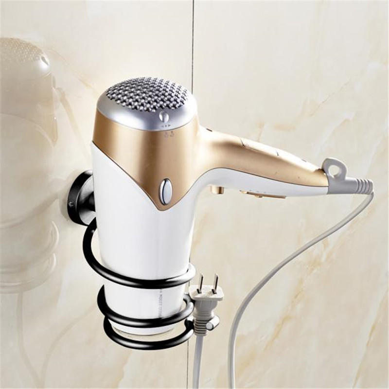 Innovative Wall-mounted Hair Dryer Metal bathroom Shelf Storage Hairdryer holder for hairdryerInnovative Wall-mounted Hair Dryer Metal bathroom Shelf Storage Hairdryer holder for hairdryer