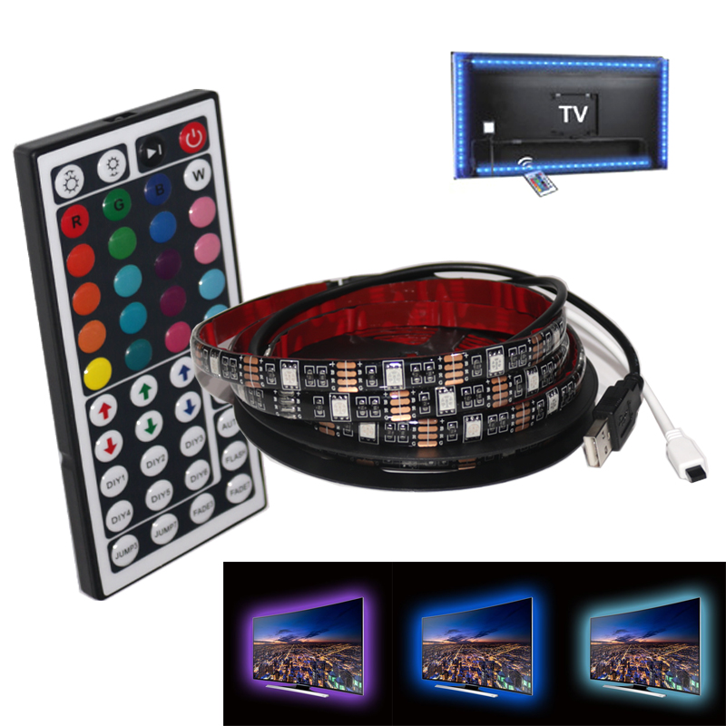 TV Backlight Strip USB Powered LED Bias Lighting for TV Screen and PC Monitor RGB Changing Color Strip Kit With Remote Control