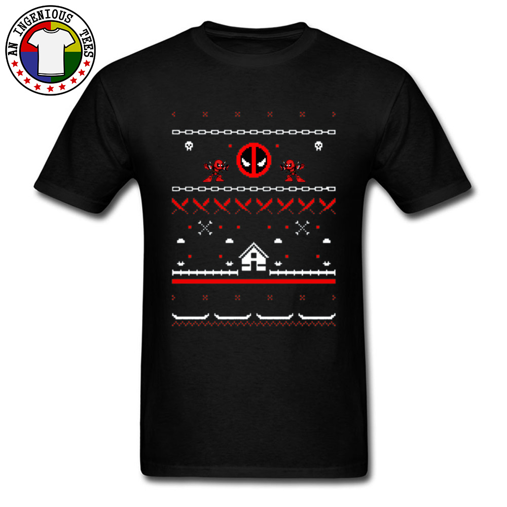 Dc Christmas Sweater.Us 7 69 40 Off Ultimate Deadpool Ugly Christmas Dc Marvel T Shirts Men Daredevil Flashman Justice League Comic Tee Shirts Cool Fashion Sweater In