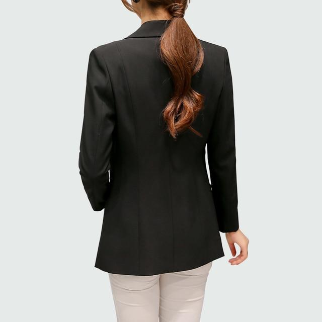 Wine Red Black Women Blazers And Jackets 2018 New Spring Autumn Fashion Single Button Blazer Femenino Ladies Blazer Female 4