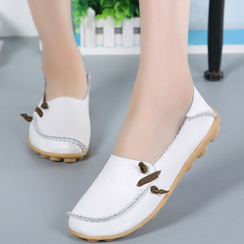 Shoes Women Genuine Leather Flat Shoes Women 2019 Summer Fashion Loafers Soft Ladies Casual Flat Shoes Woman Moccasins Shoes