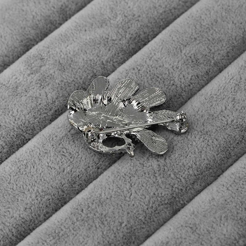 Biru Bros Vintage Pernikahan Aksesori Besar Berlian Imitasi Merak Pin Bros Merak Pin Buket Pengantin Gaun Ikat Rambut Sisir Dekorasi