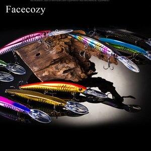 Image 5 - Facecozy bionic reflection 낚시 미노우 모양 인공 루어 브릴리언트 컬러 swimbait 낚시 하드 미끼 플로팅 크랭크